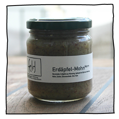Erdäpfel Mohn Marmelade